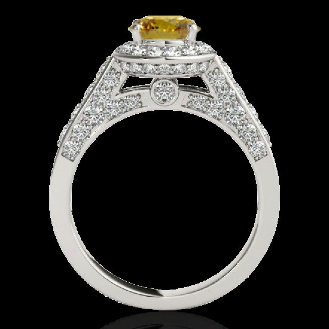2.56 CTW Certified SI/I Fancy Intense Yellow Diamond - 2