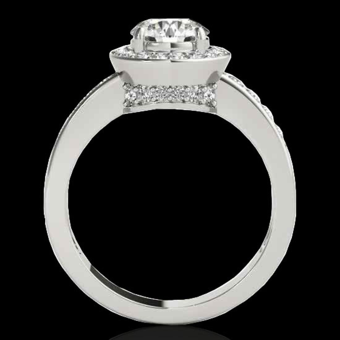 1.4 CTW H-SI/I Certified Diamond Solitaire Halo Ring - 2