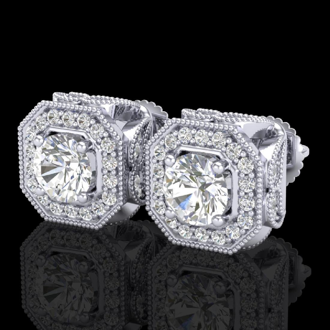2.75 CTW VS/SI Diamond Solitaire Art Deco Stud Earrings