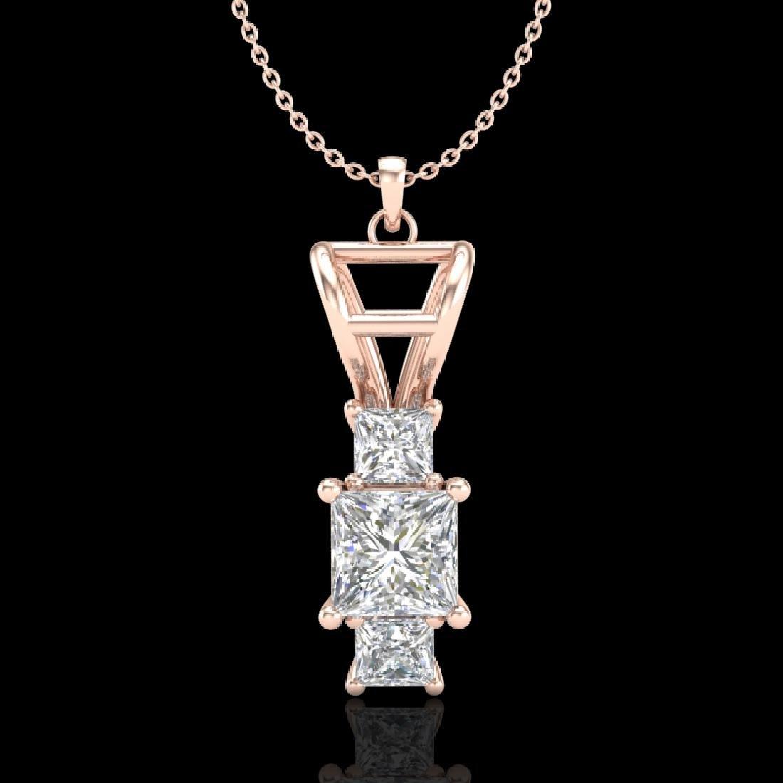 1.54 CTW Princess VS/SI Diamond Solitaire Art Deco