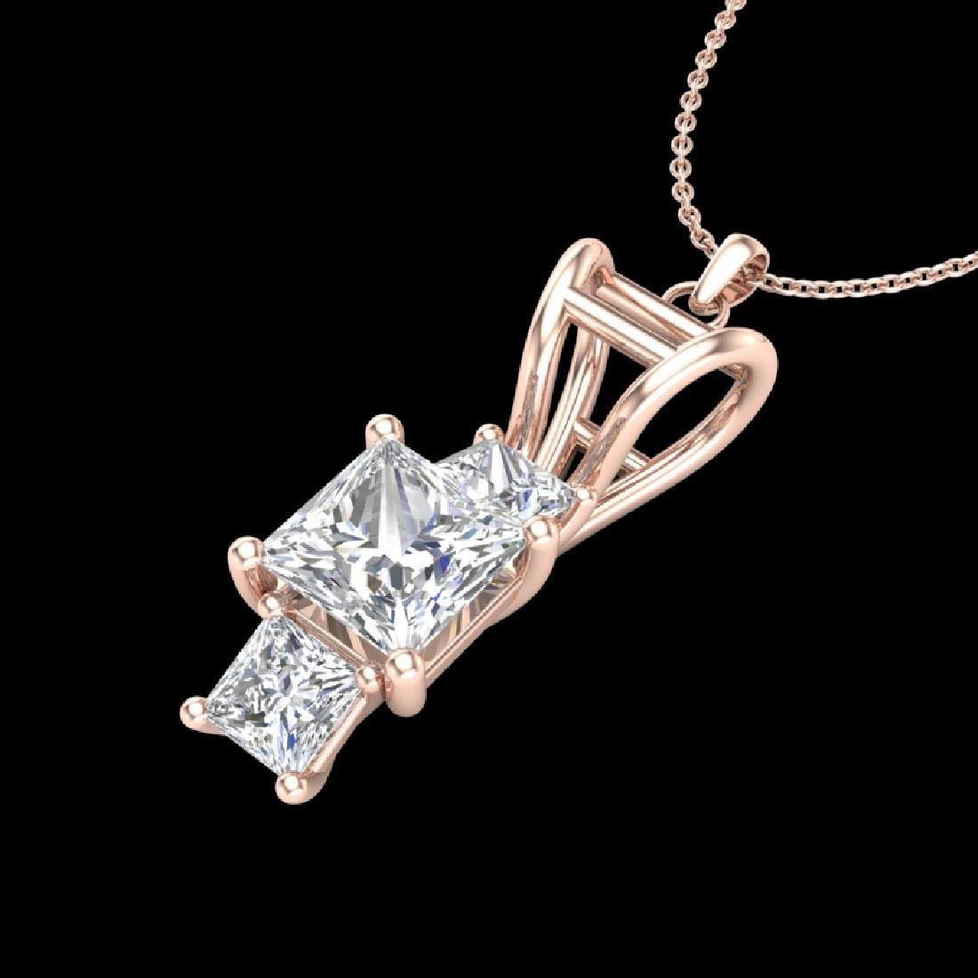 1.54 CTW Princess VS/SI Diamond Solitaire Art Deco - 2