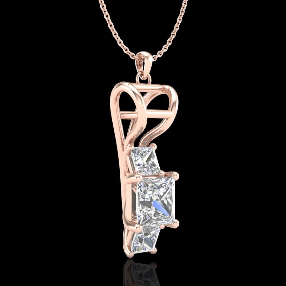 1.54 CTW Princess VS/SI Diamond Solitaire Art Deco - 3