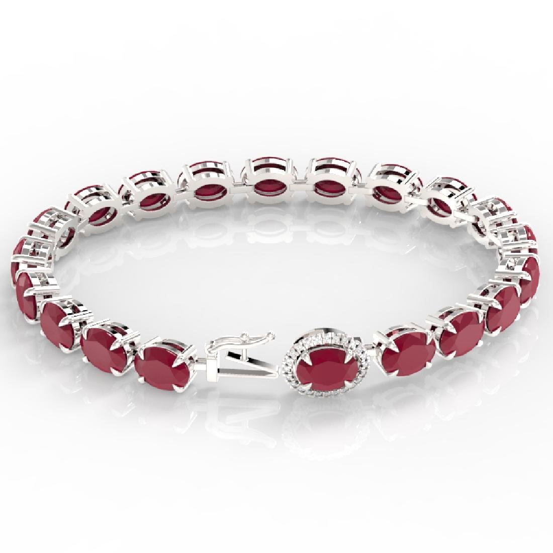 23.25 CTW Ruby & VS/SI Diamond Eternity Tennis Micro - 3