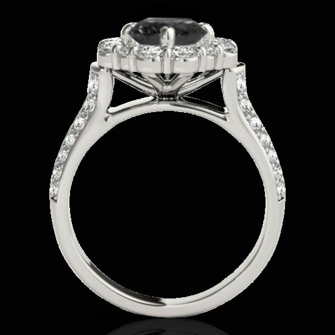2.81 CTW Certified VS Black Diamond Solitaire Halo Ring - 2