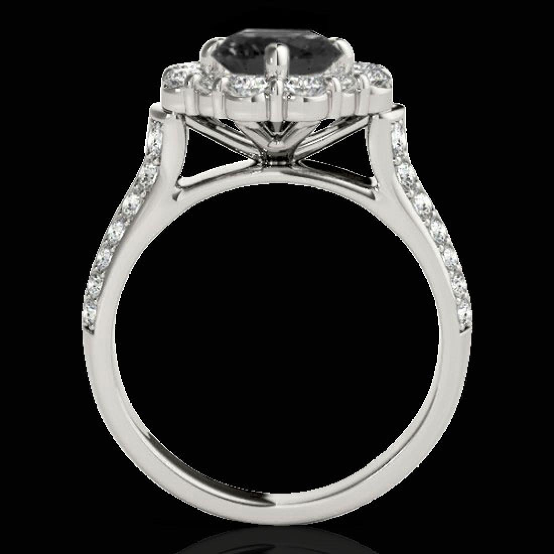 2.81 CTW Certified VS Black Diamond Solitaire Halo Ring - 2