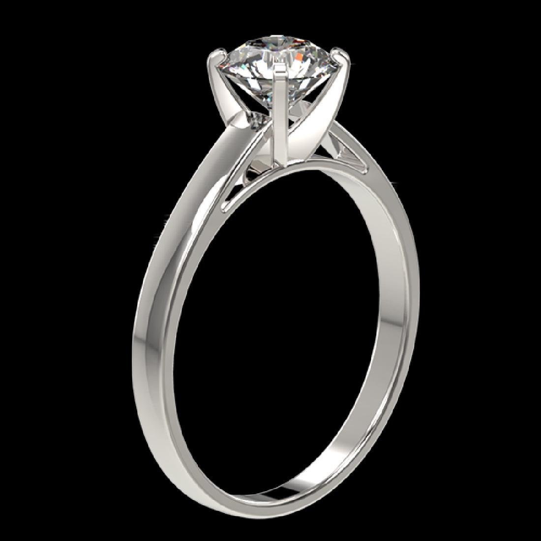1.01 CTW Certified H-SI/I Quality Diamond Solitaire - 3