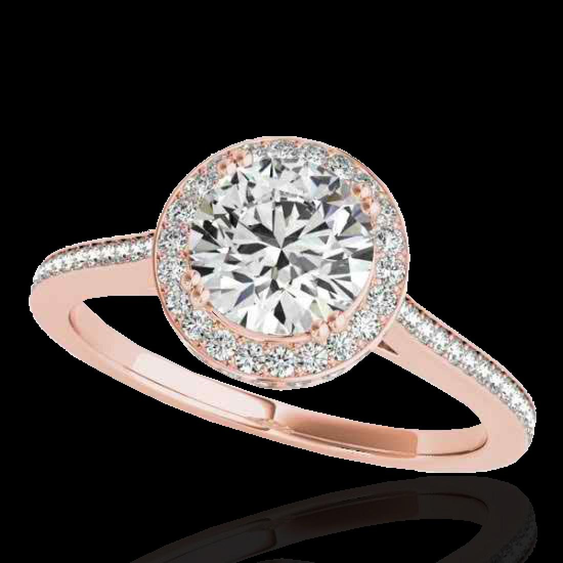 1.55 CTW H-SI/I Certified Diamond Solitaire Halo Ring