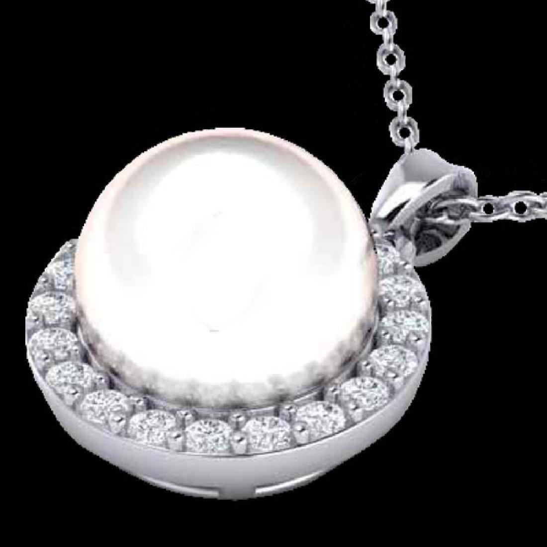 0.25 CTW Micro Halo VS/SI Diamond & White Pearl