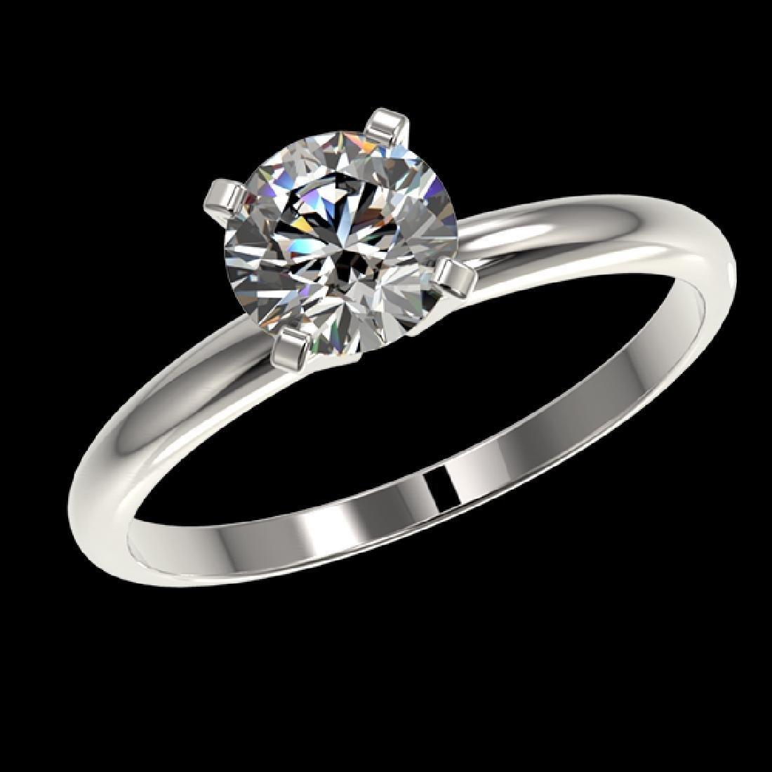 1.06 CTW Certified H-SI/I Quality Diamond Solitaire - 2