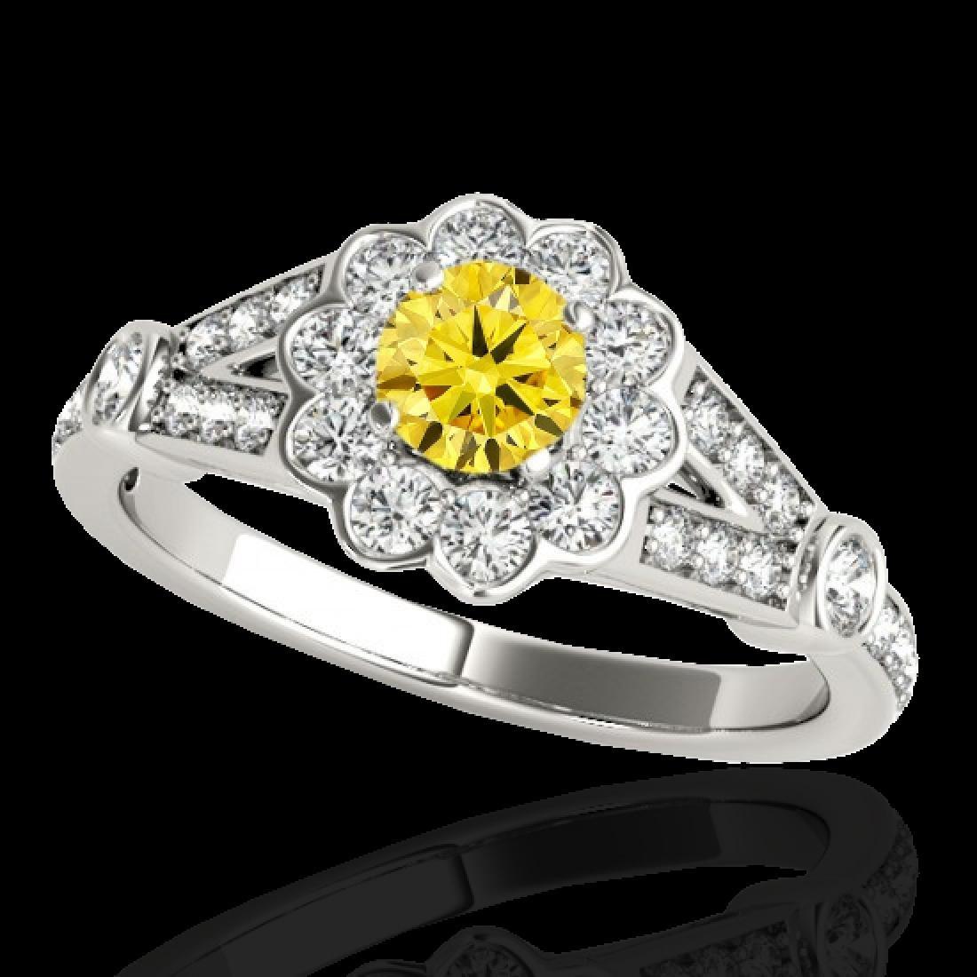 1.65 CTW Certified SI/I Fancy Intense Yellow Diamond