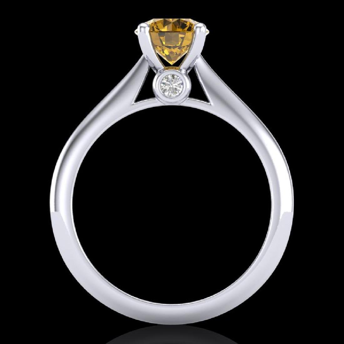 1.08 CTW Intense Fancy Yellow Diamond Engagement Art - 3
