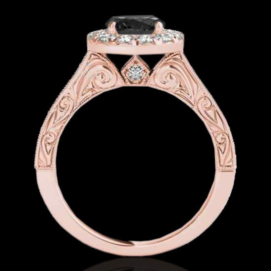 2.22 CTW Certified VS Black Diamond Solitaire Halo Ring - 2