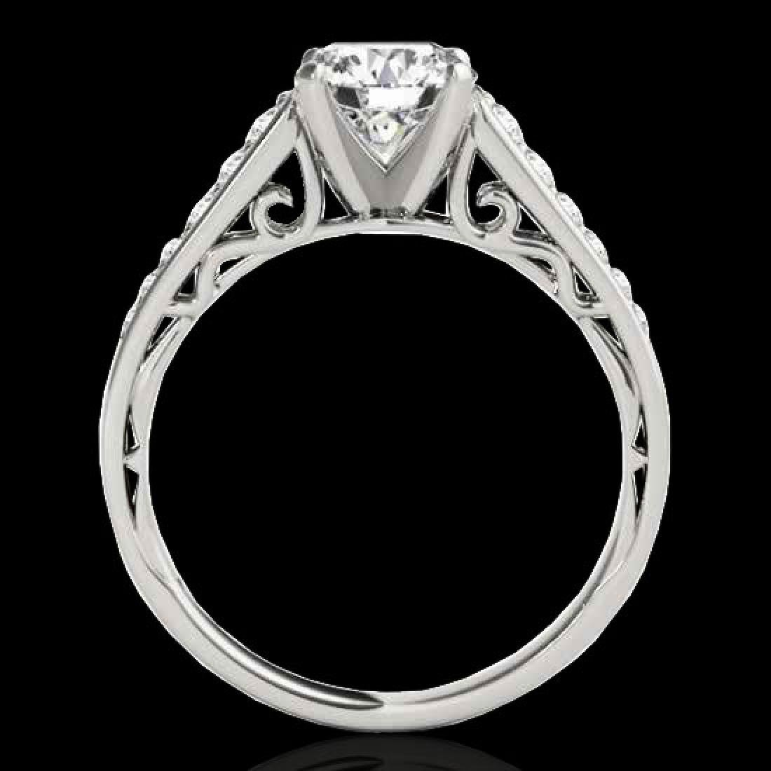 1.35 CTW H-SI/I Certified Diamond Solitaire Ring 10K - 2