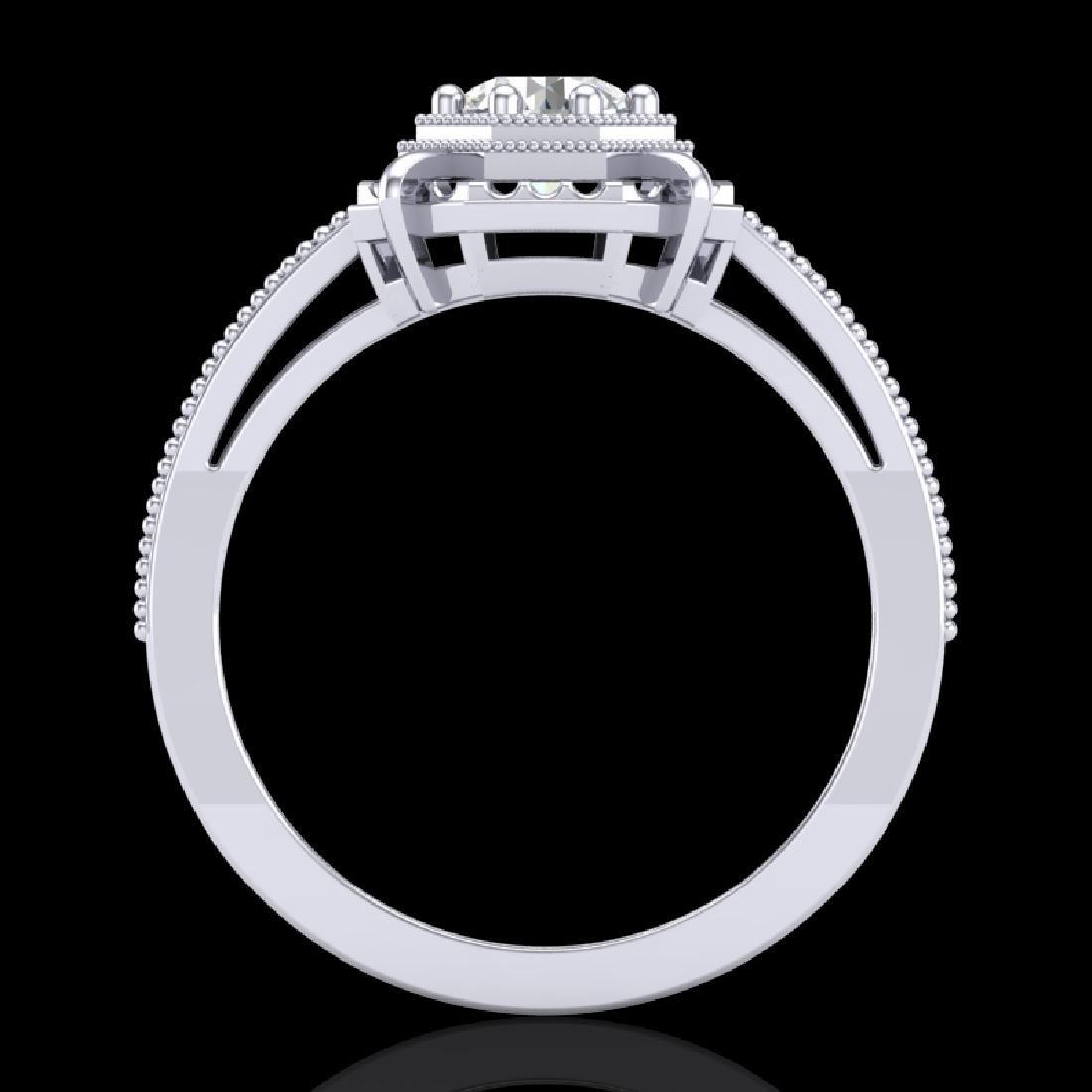 0.53 CTW VS/SI Diamond Art Deco Ring 18K White Gold