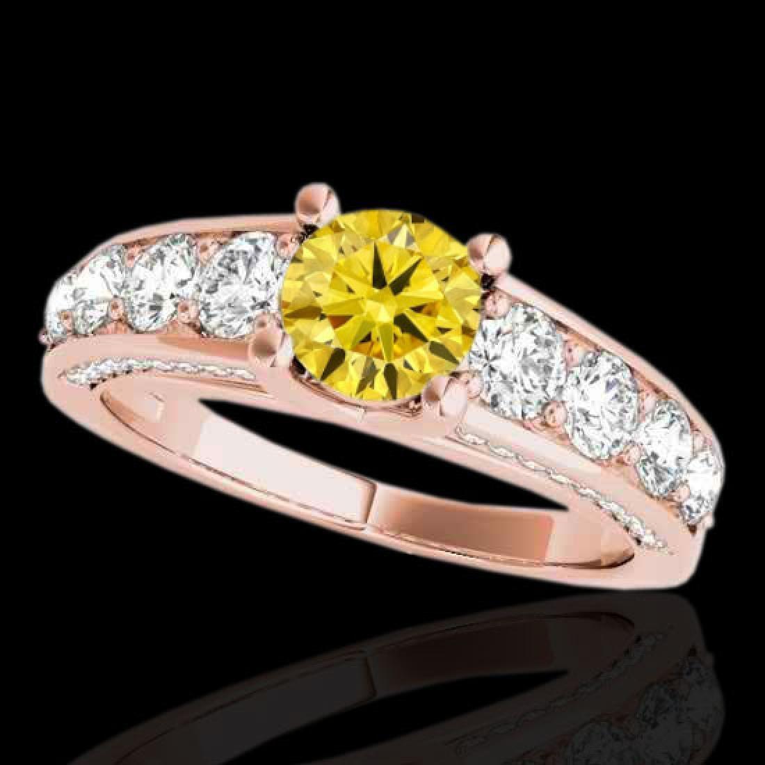 3.05 CTW Certified SI/I Fancy Intense Yellow Diamond