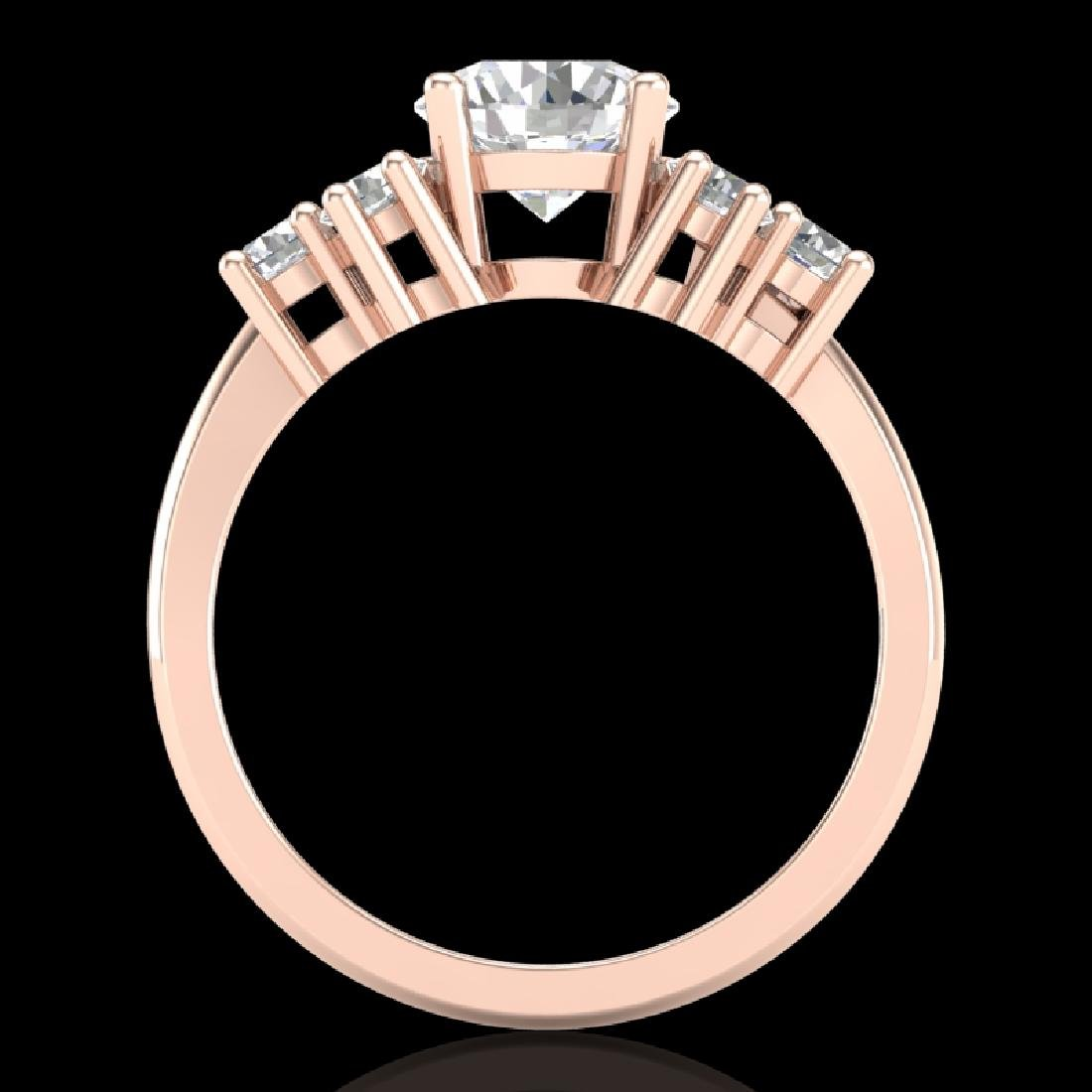 2.1 CTW VS/SI Diamond Solitaire Ring 18K Rose Gold