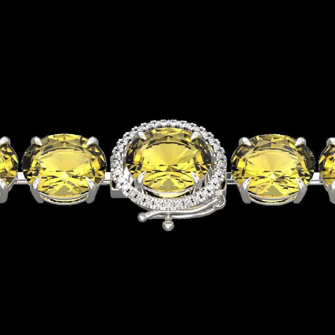 78 CTW Citrine & Micro VS/SI Diamond Halo Designer