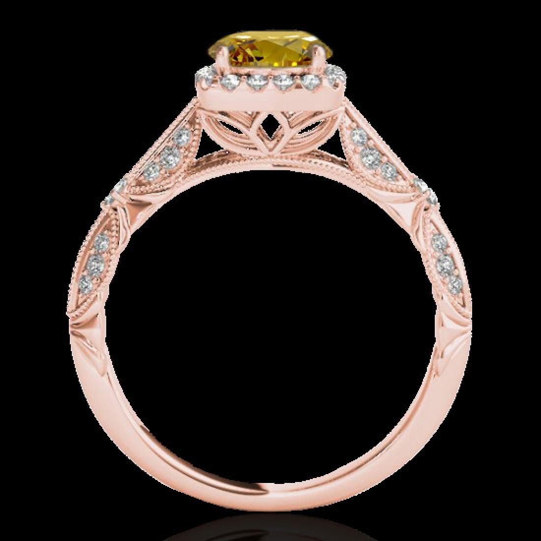 1.36 CTW Certified SI/I Fancy Intense Yellow Diamond - 2