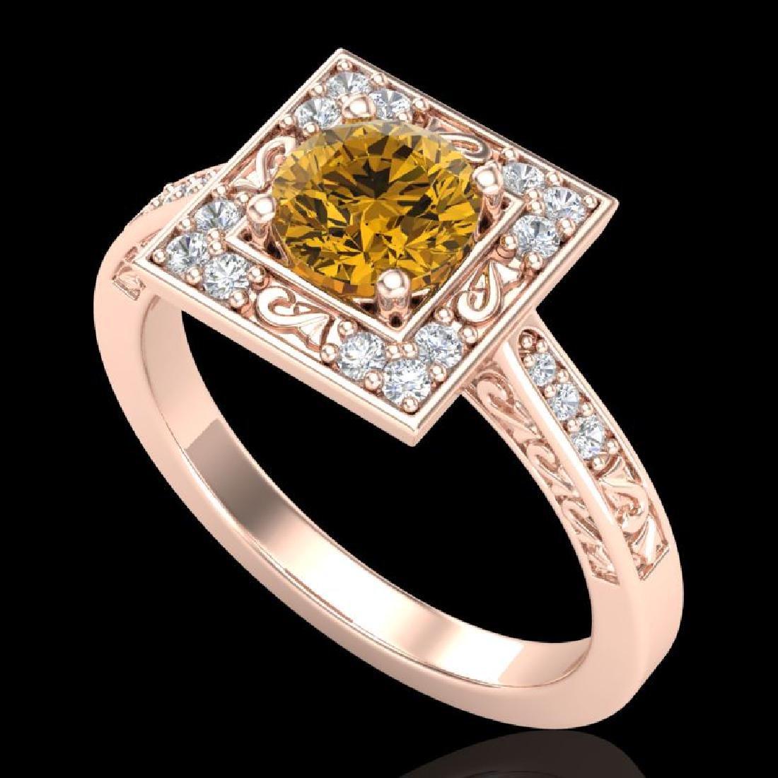 1.1 CTW Intense Fancy Yellow Diamond Engagement Art