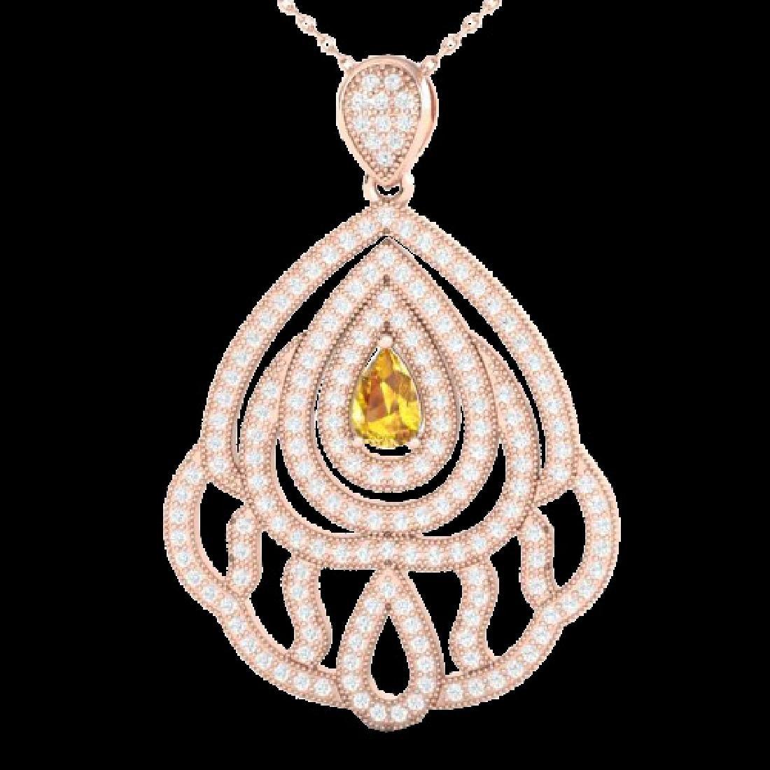 2 CTW Yellow Sapphire & Micro VS/SI Diamond Designer