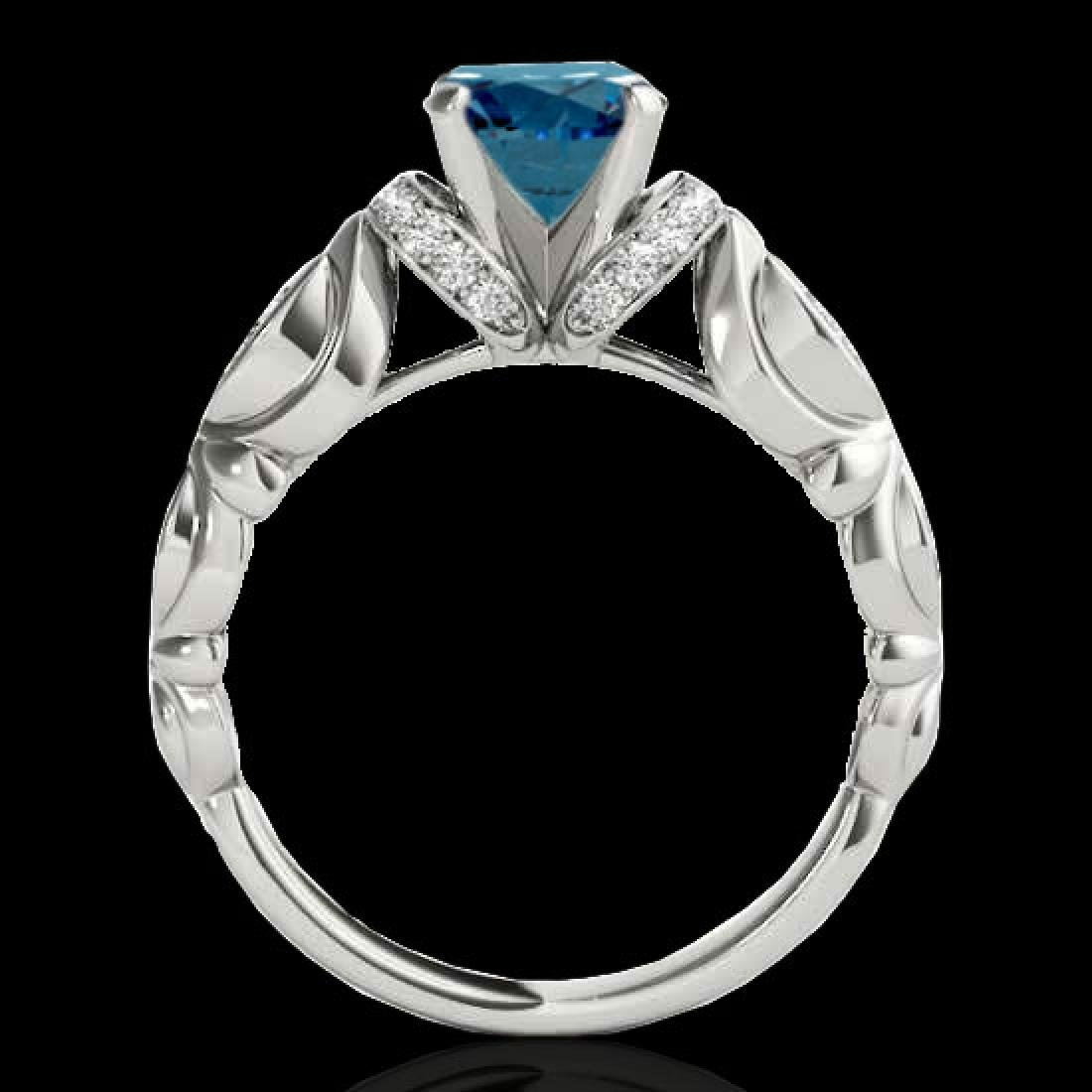 1.2 CTW SI Certified Fancy Blue Diamond Solitaire - 2