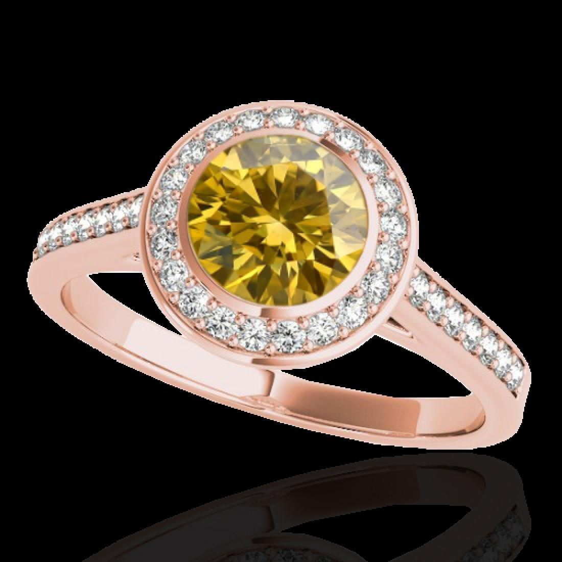 1.3 CTW Certified SI/I Fancy Intense Yellow Diamond - 2