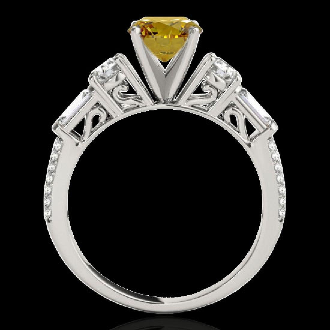 2 CTW Certified SI/I Fancy Intense Yellow Diamond Pave - 2