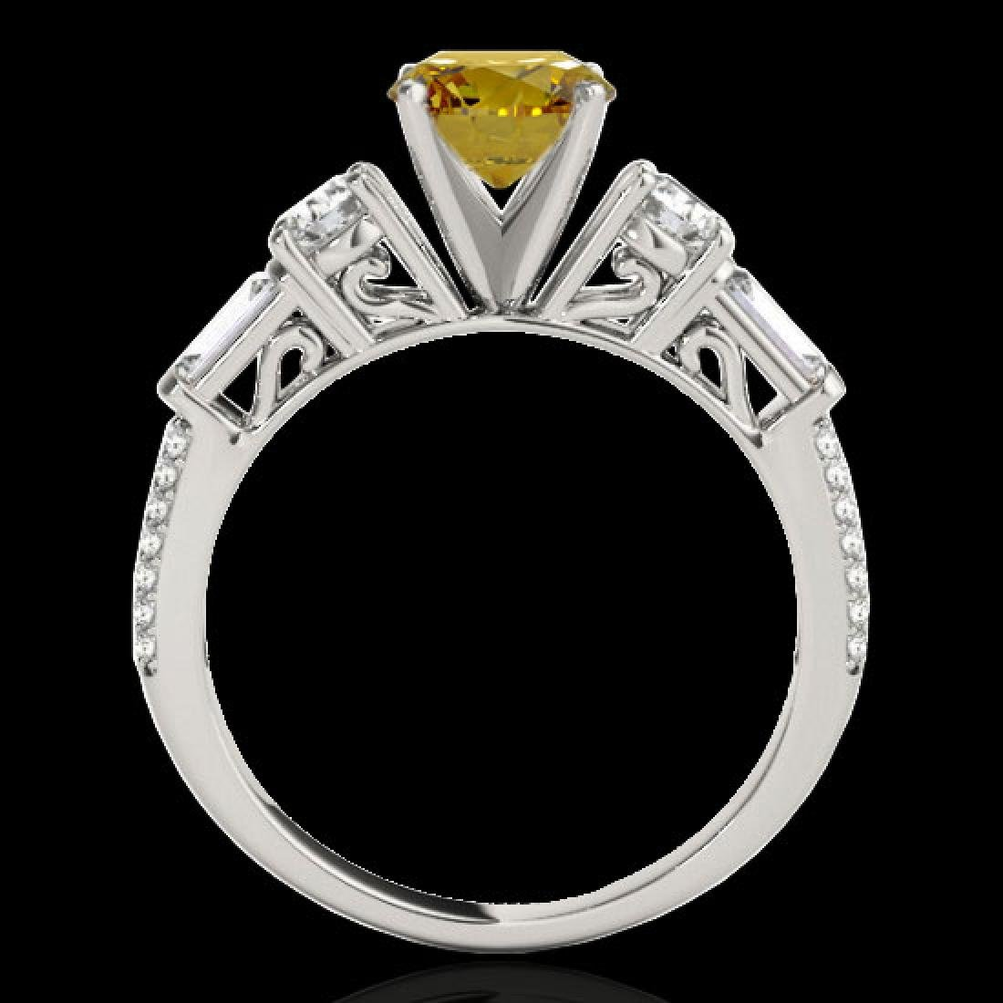 2 CTW Certified SI/I Fancy Intense Yellow Diamond Pave - 2