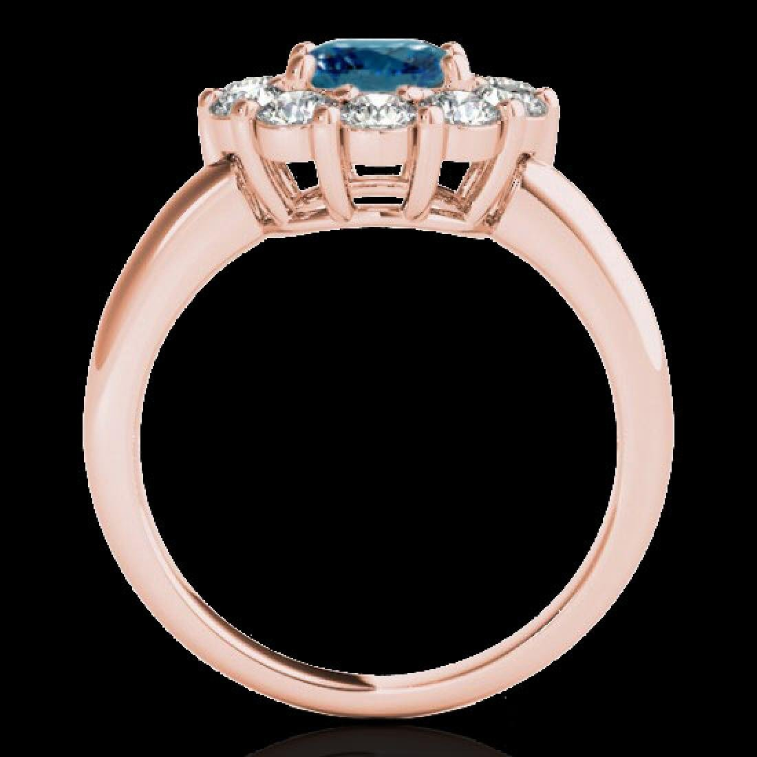 2.85 CTW SI Certified Fancy Blue Diamond Solitaire Halo - 2