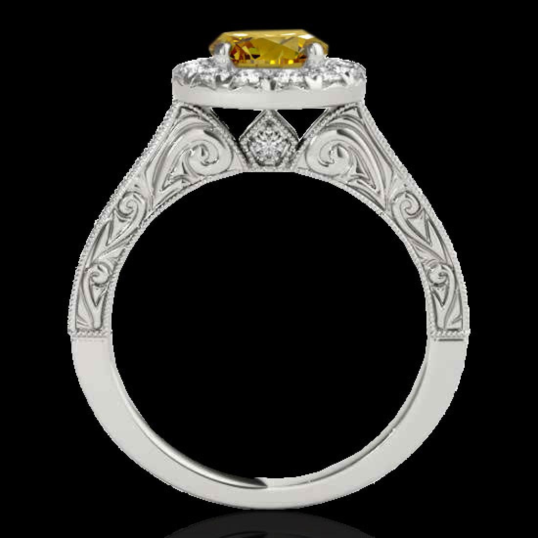 2.22 CTW Certified SI/I Fancy Intense Yellow Diamond - 2