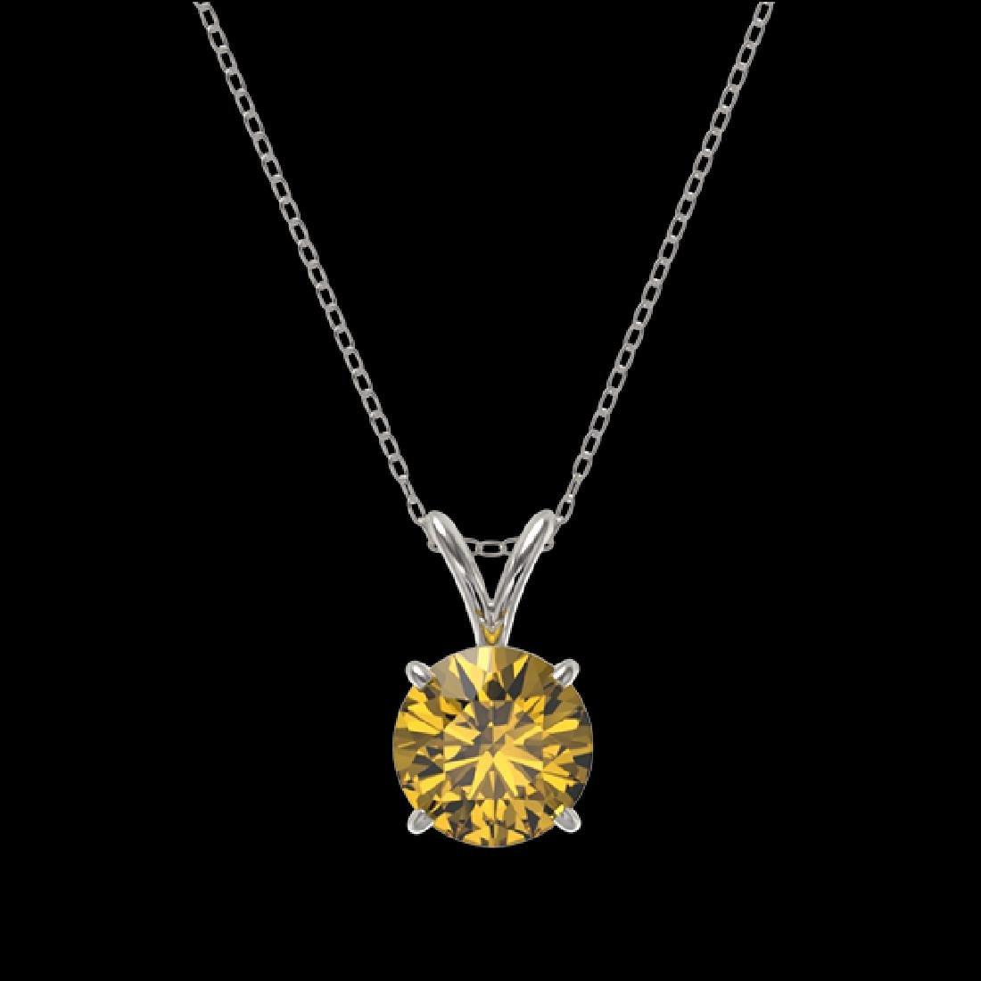 1.27 CTW Certified Intense Yellow SI Diamond Solitaire - 3