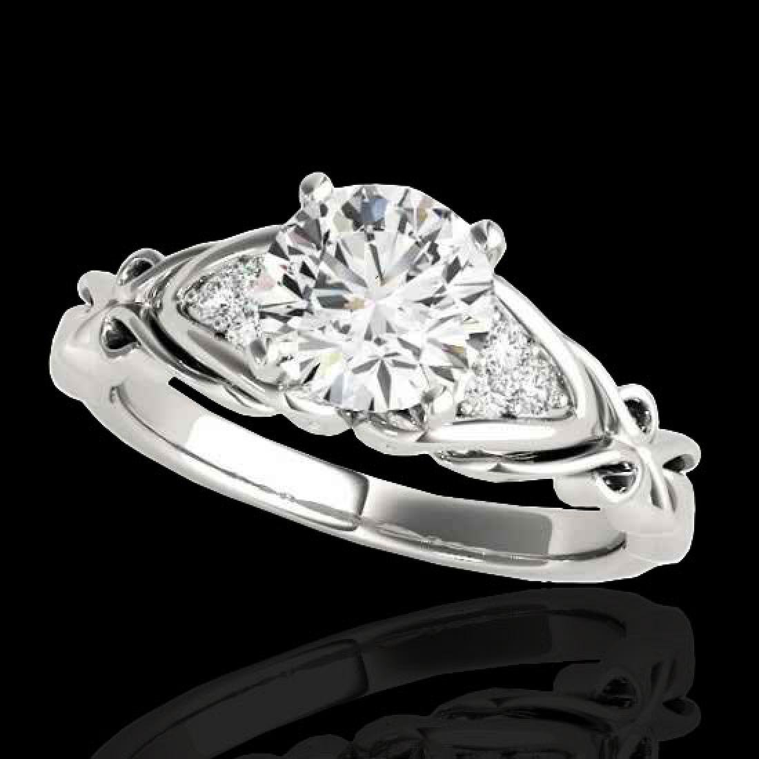 1.35 CTW H-SI/I Certified Diamond Solitaire ring 10K