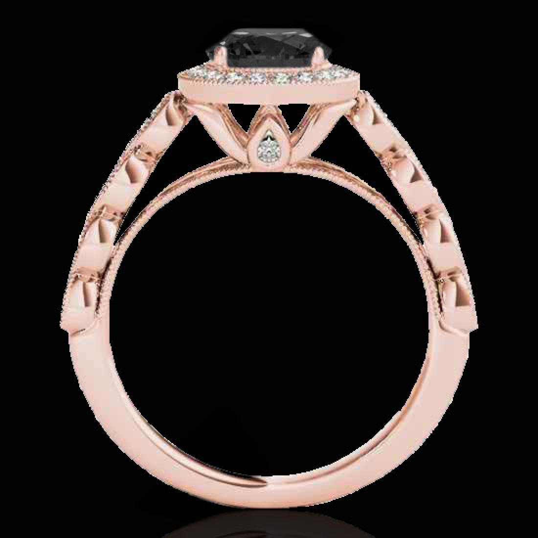 1.93 CTW Certified VS Black Diamond Solitaire Halo Ring - 2