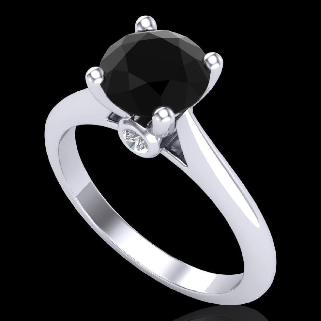 1.6 CTW Fancy Black Diamond Solitaire Engagement Art