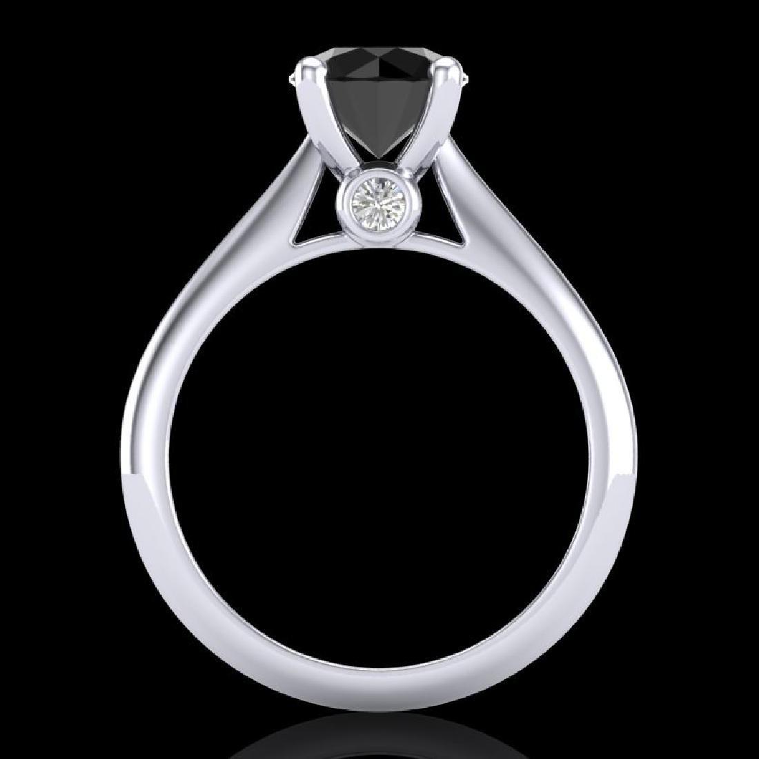1.6 CTW Fancy Black Diamond Solitaire Engagement Art - 3