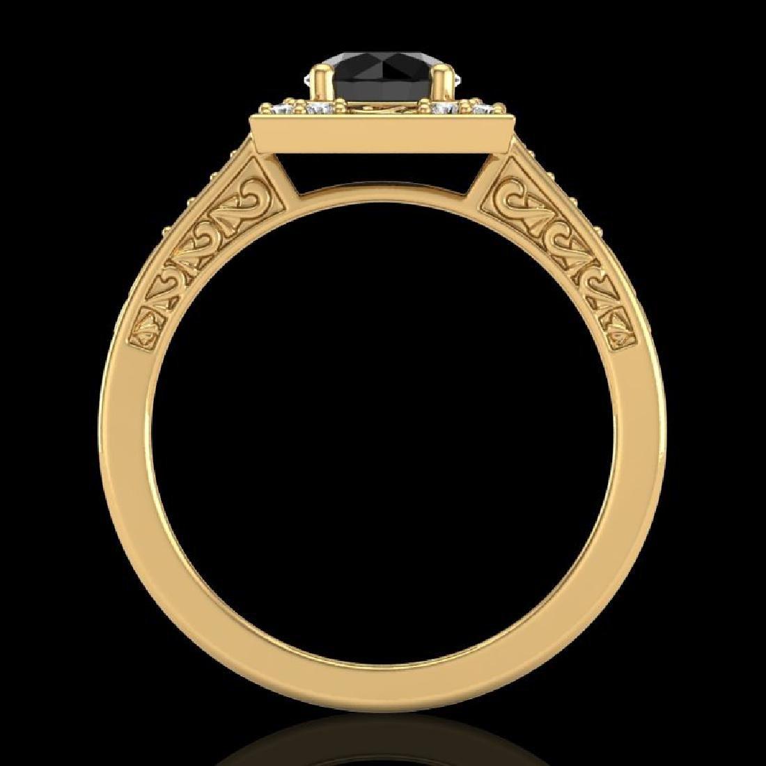 1.1 CTW Fancy Black Diamond Solitaire Engagement Art - 3