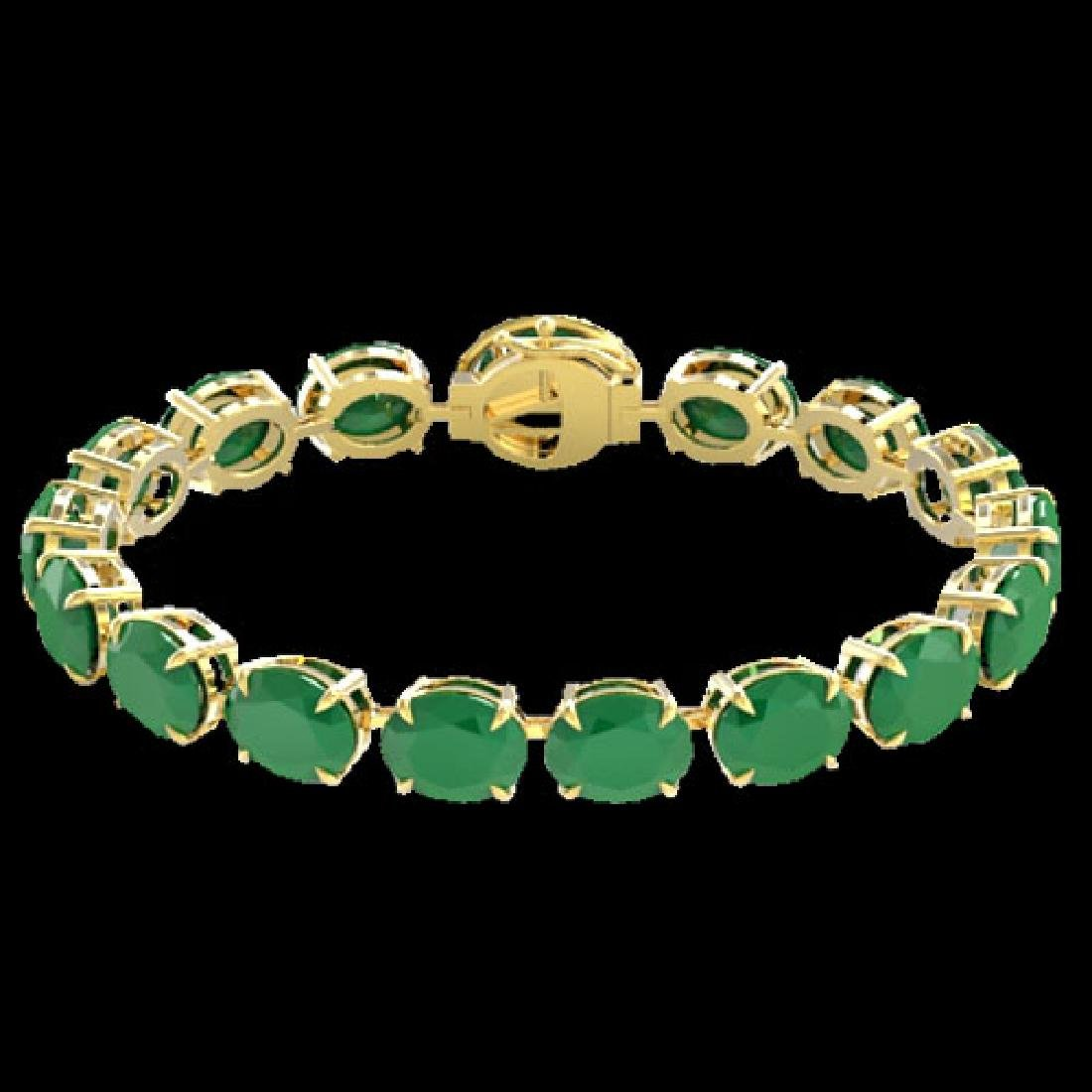 76 CTW Emerald & Micro Pave VS/SI Diamond Halo Bracelet - 2