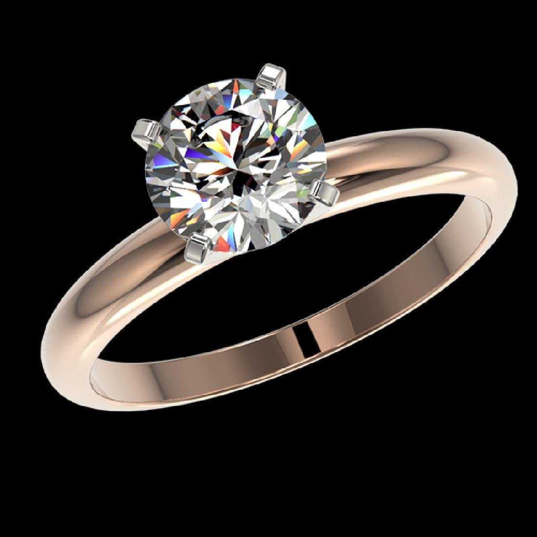 1.57 CTW Certified H-SI/I Quality Diamond Solitaire - 2