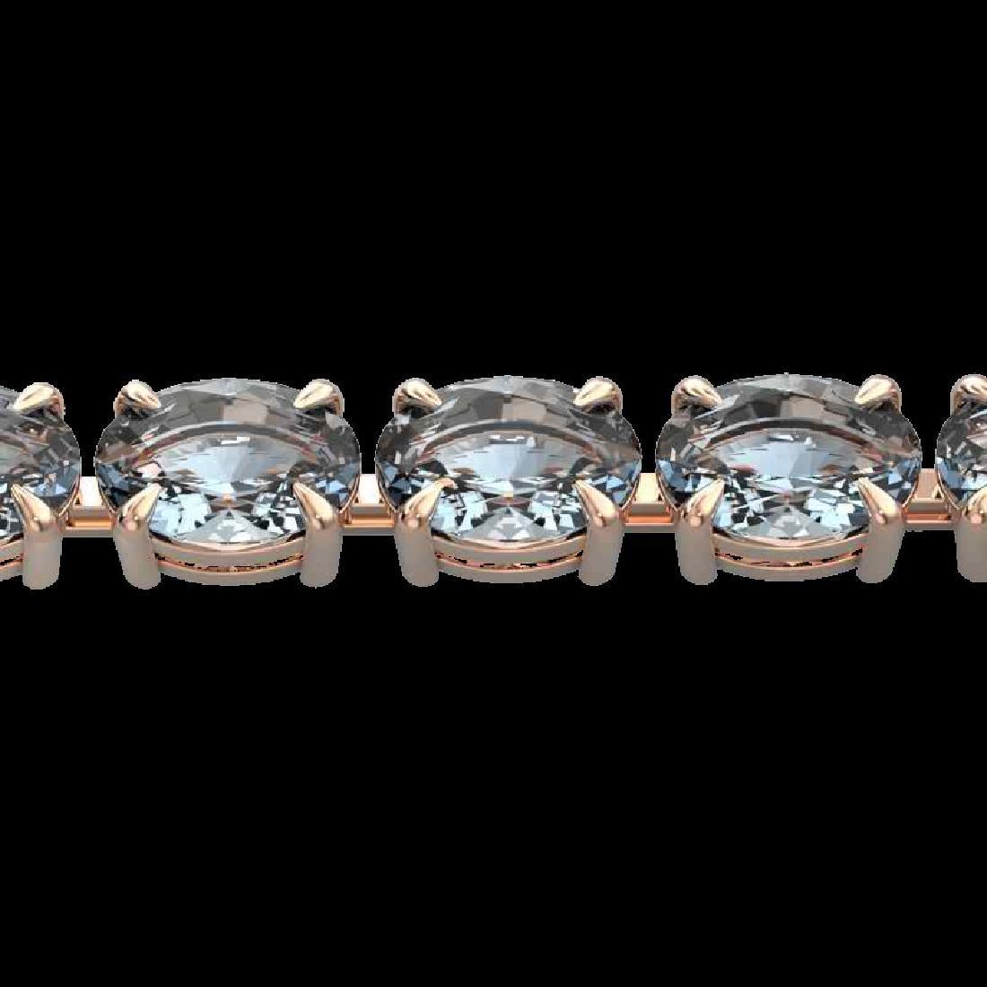 20 CTW Aquamarine Eternity Designer Inspired Tennis
