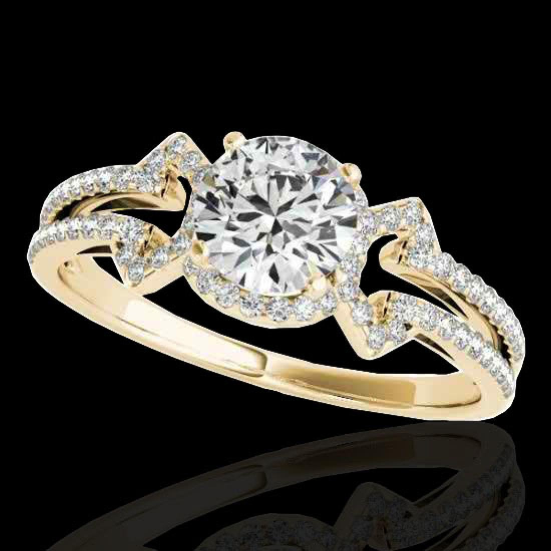 1.36 CTW H-SI/I Certified Diamond Solitaire Ring 10K