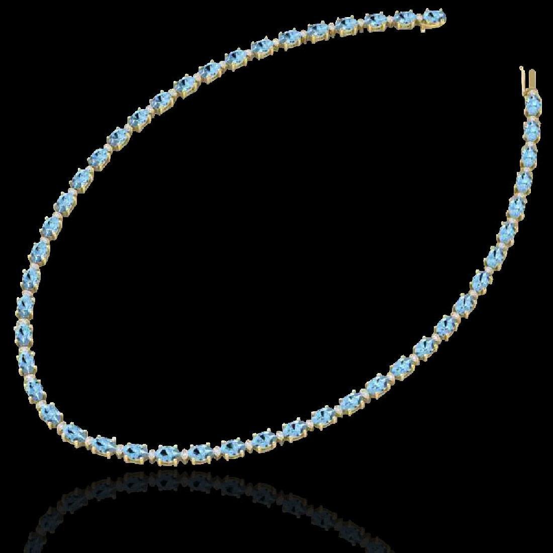 49.85 CTW Aquamarine & VS/SI Certified Diamond Eternity - 2