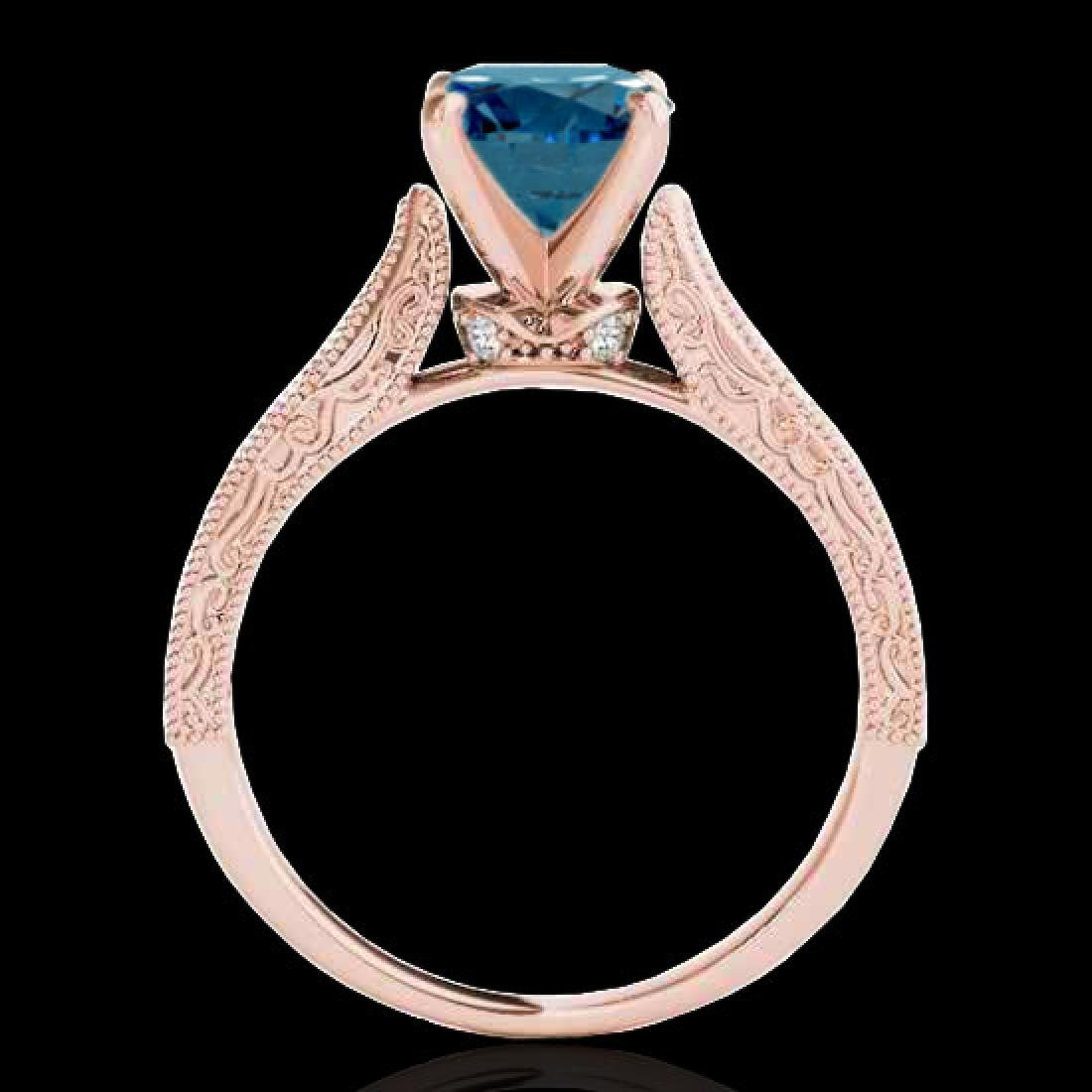 1.5 CTW SI Certified Fancy Blue Diamond Solitaire - 2