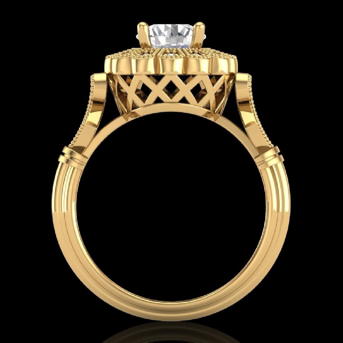1.2 CTW VS/SI Diamond Solitaire Art Deco Ring 18K