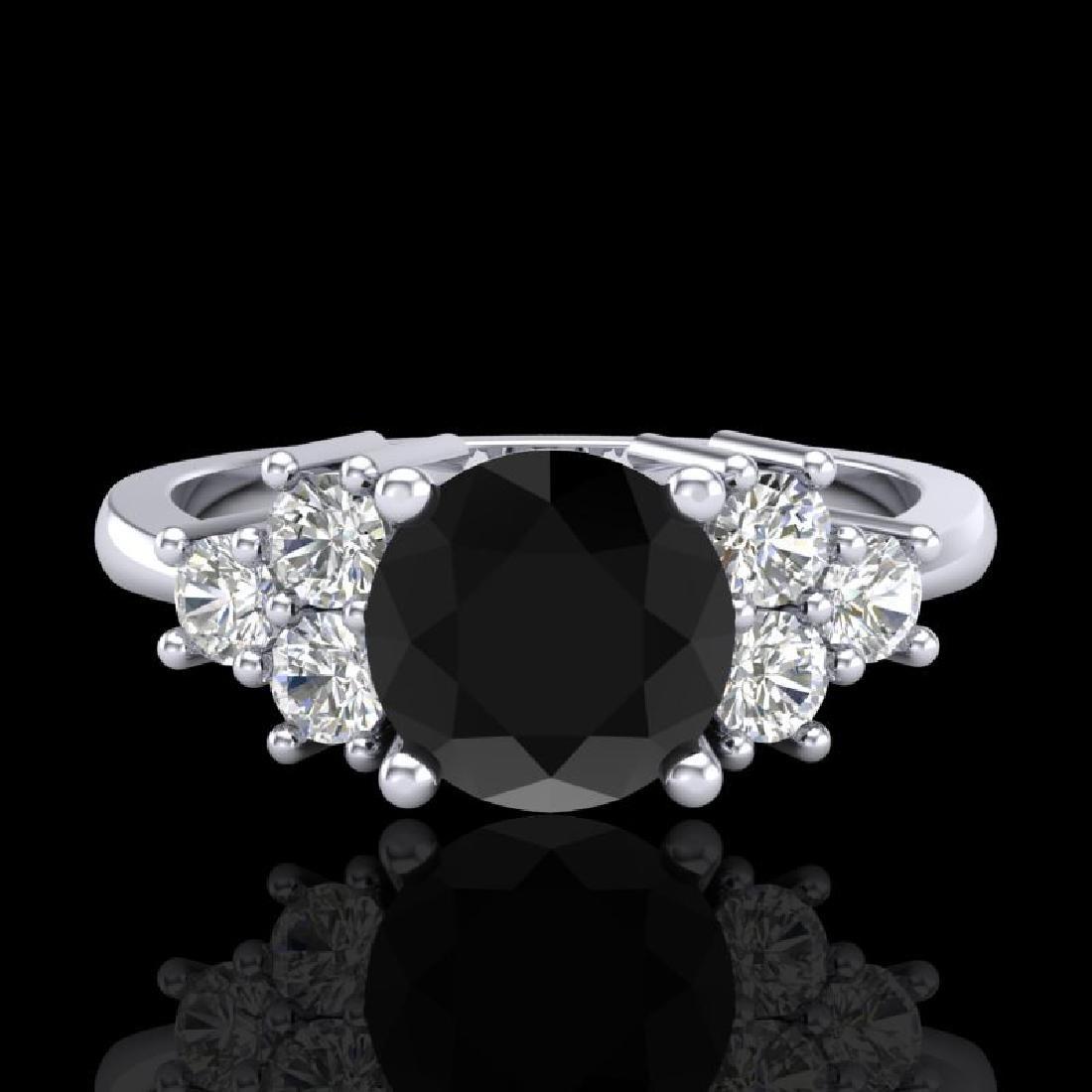 1.5 CTW Fancy Black Diamond Solitaire Engagement - 2