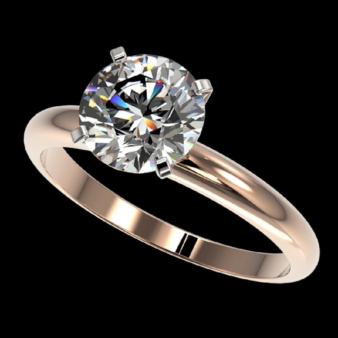 2.03 CTW Certified H-SI/I Quality Diamond Solitaire