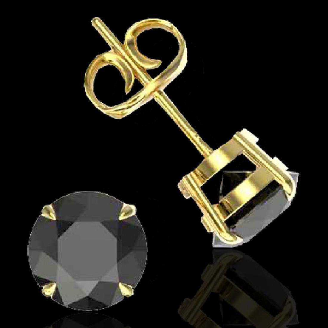 4 CTW Black VS/SI Diamond Designer Inspired Stud - 2