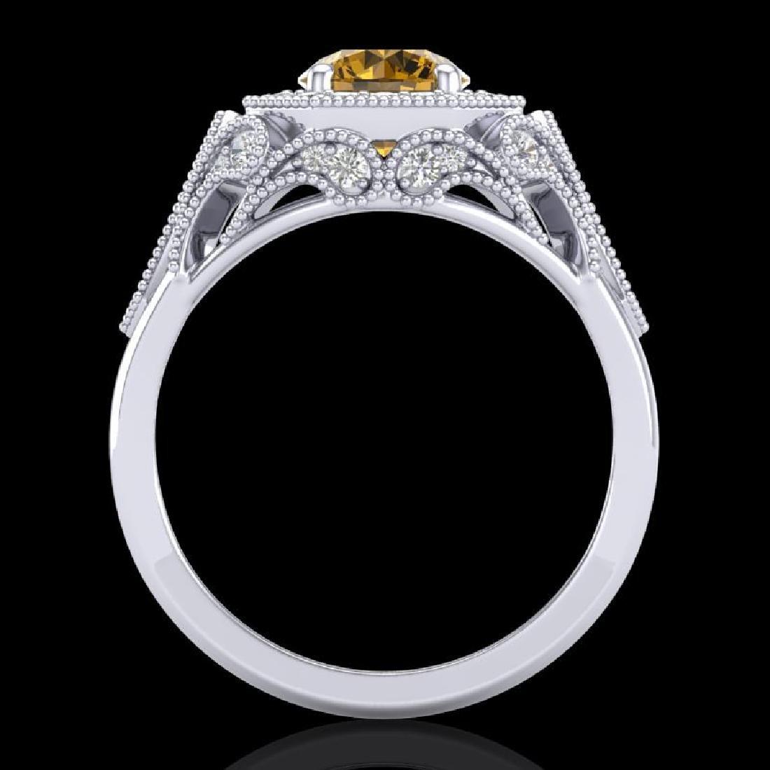 1.75 CTW Intense Fancy Yellow Diamond Engagement Art - 3