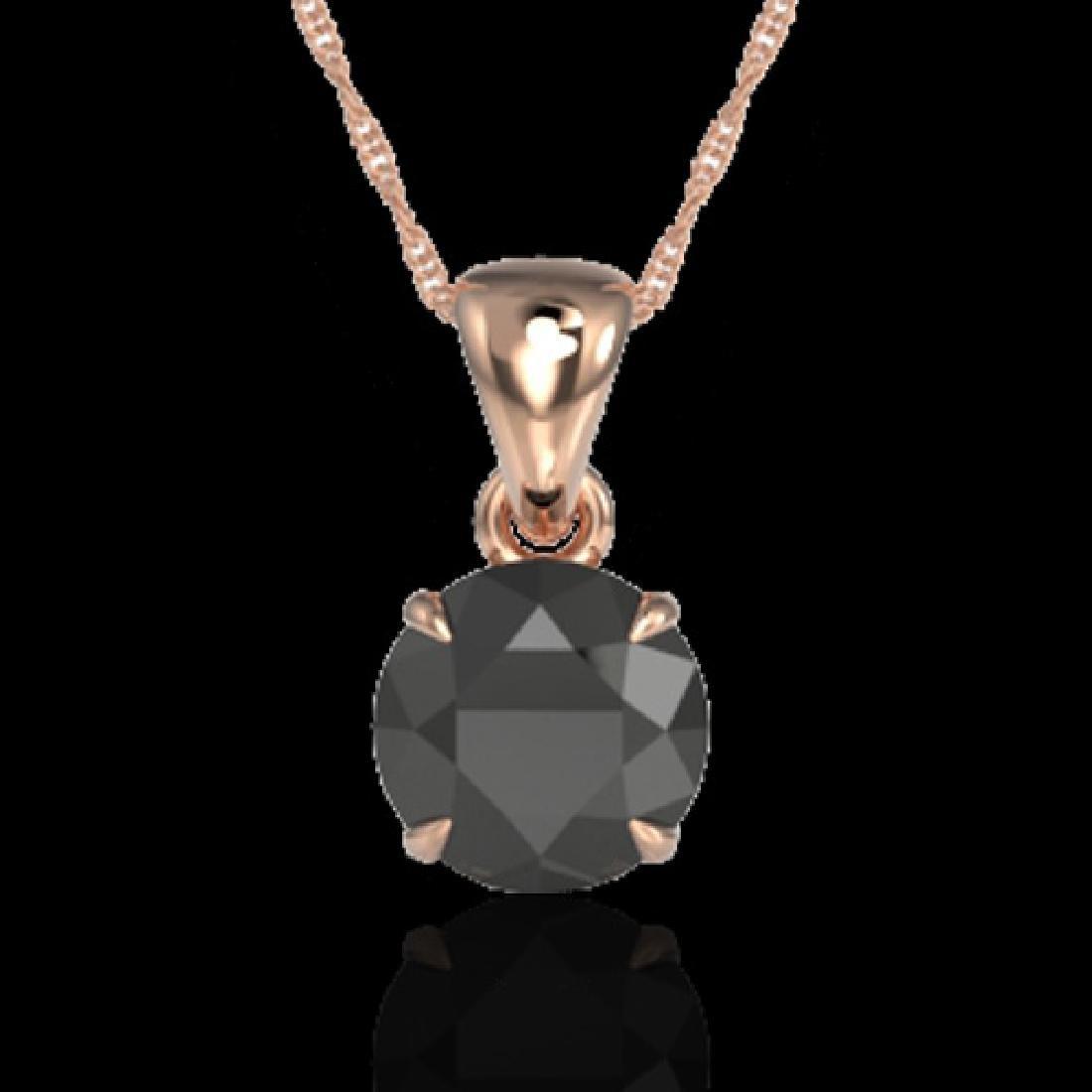 2 CTW Black VS/SI Diamond Inspired Solitaire Necklace