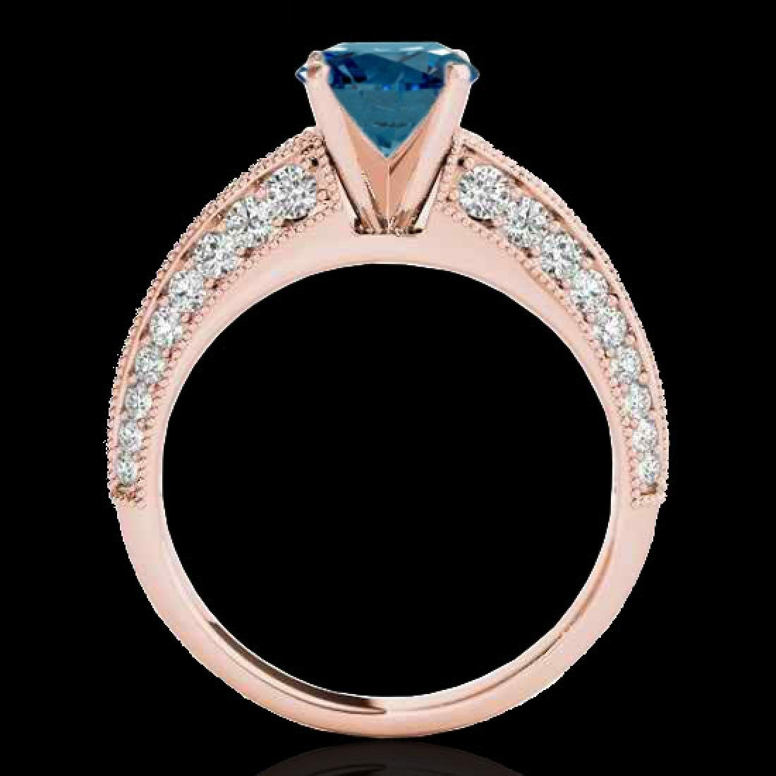 1.58 CTW SI Certified Blue Diamond Solitaire Antique - 2