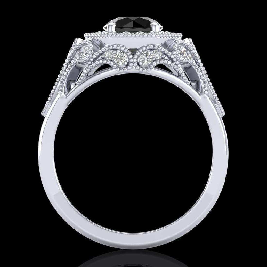 1.75 CTW Fancy Black Diamond Solitaire Engagement Art - 3